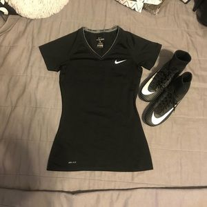 Nike Pro short Sleeve Dri-Fit Fitted shirt Size S